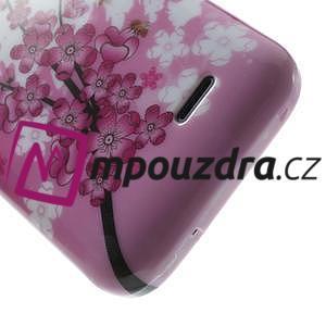 Gélové puzdro pre HTC Desire 310- kvitnúca vetva - 6