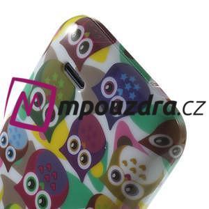 Gélové puzdro na HTC Desire 310- farebné sovy - 6