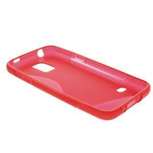 Gélové S-line puzdro pre Samsung Galaxy S5 mini G-800- červené - 6