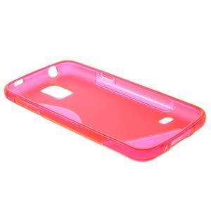 Gélové S-line puzdro pre Samsung Galaxy S5 mini G-800- ružové - 6