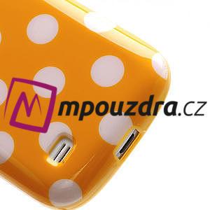 Gélový Puntík pro Samsung Galaxy S4 mini i9190- oranžové - 6