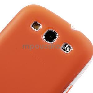 Gélové rámované puzdro pre Samsung Galaxy S3 i9300- oranžové - 6
