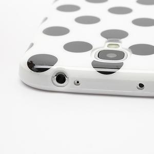 Gélové Puntík puzdro pre Samsung Galaxy S4 i9500- biele - 6