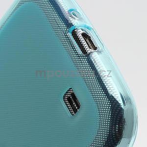 Gélové matné puzdro na Samsung Galaxy S4 i9500- modré - 6