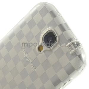 Gélové kosočvercové puzdro na Samsung Galaxy S4 i9500- Transparentní - 6