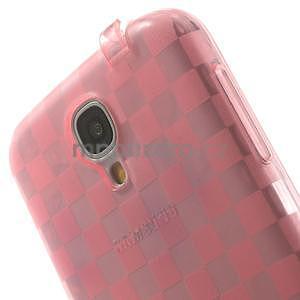 Gelpvé kosočvercové puzdro pre Samsung Galaxy S4 i9500- ružové - 6