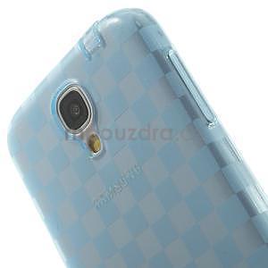 Gélové kosočvercové puzdro na Samsung Galaxy S4 i9500- modré - 6