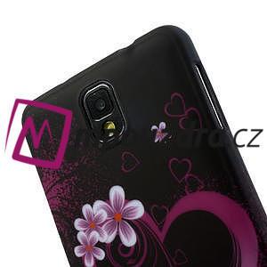 Gélové puzdro na Samsung Galaxy Note 3- srdce - 6