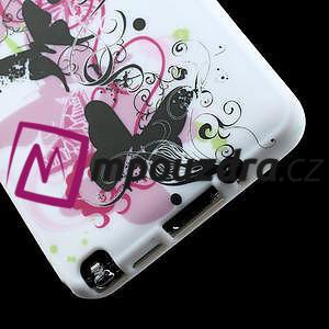 Gélové puzdro na Samsung Galaxy Note 3- květinka motýl - 6