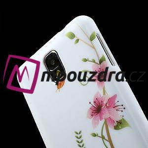 Gélové puzdro na Samsung Galaxy Note 3- červené květy - 6