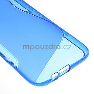 Gélové S-line puzdro pre HTC one M8- modré - 6