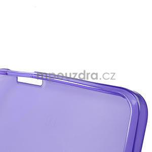 Gélové matné puzdro pre HTC one Max- fialové - 6