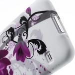 Gélové puzdro pre Samsung Galaxy S5- fialový kvet - 6/7