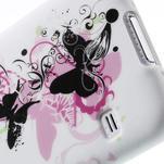 Gélové puzdro pre Samsung Galaxy S5- motýl kvetina - 6/7