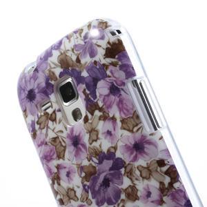 Gélové puzdro pre Samsung Galaxy Trend, Duos- fialové kvety - 6