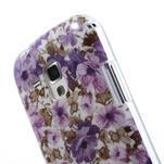 Gélové puzdro pre Samsung Galaxy Trend, Duos- fialové kvety - 6/6