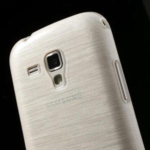Kartáčované puzdro na Samsung Galaxy Trend, Duos- biele - 6