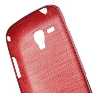 Kartáčované puzdro na Samsung Galaxy Trend, Duos- červené - 6