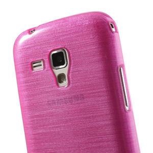 Kartáčované puzdro na Samsung Galaxy Trend, Duos- růžové - 6