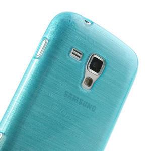 Kartáčované puzdro na Samsung Galaxy Trend, Duos- modré - 6