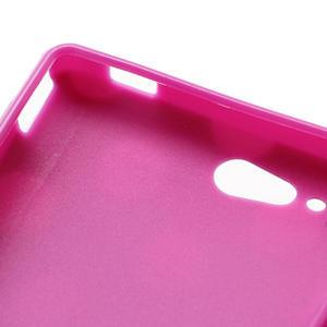 Gélové PUNTÍK puzdro na HTC Desire X- fialový - 6