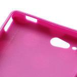 Gélové PUNTÍK puzdro na HTC Desire X- fialový - 6/6