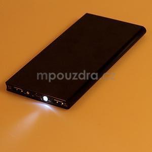 Luxusná kovová externá nabíjačka power bank 12 000 mAh - čierna - 6