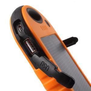 Outdoor GX vysokokapacitní externí solární nabíjačka 12 000 mAh - oranžová - 6