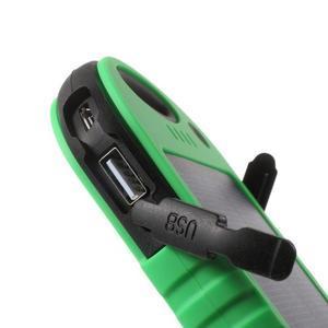 Outdoor GX vysokokapacitní externí solární nabíjačka 12 000 mAh - zelená/čierná - 6