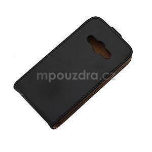 Flipové puzdro na Samsung Galaxy Xcover 3 - čierné - 6