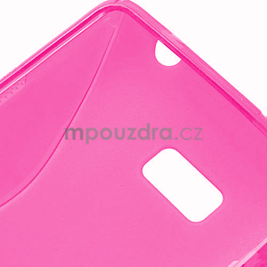 Gélové S-line puzdro pre HTC Desire 600- růžové - 6