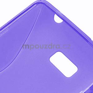 Gélové S-line puzdro pre HTC Desire 600- fialové - 6