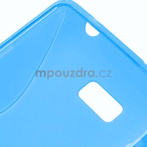 Gélové S-line puzdro pre HTC Desire 600- modré - 6
