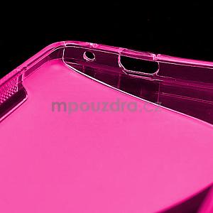 Gélové S-line puzdro pre HTC one M7- ružové - 6