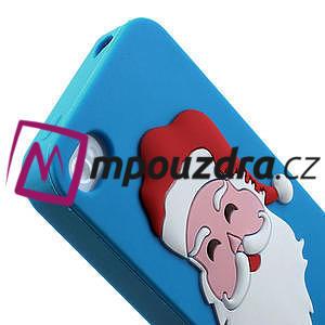 Silikonové puzdro na iPhone 4 4S - Santa Claus - 6