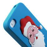 Silikonové puzdro na iPhone 4 4S - Santa Claus - 6/6