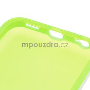 Gélové rámové puzdro pre iPhone 5C- zelené - 6