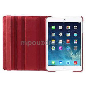 PU kožené 360° puzdro pre iPad mini- červené - 6