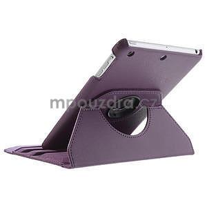PU kožené 360° puzdro pre iPad mini- fialové - 6