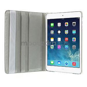 PU kožené 360° puzdro pre iPad mini- biele - 6