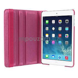 PU kožené 360° puzdro pre iPad mini- růžové - 6