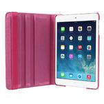 PU kožené 360° puzdro pre iPad mini- růžové - 6/7