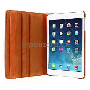 PU kožené 360° puzdro pre iPad mini- oranžové - 6
