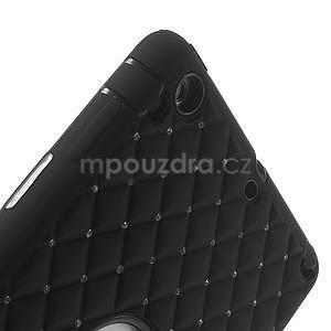 Hybridní kamínkové puzdro pre iPad mini- čierné - 6