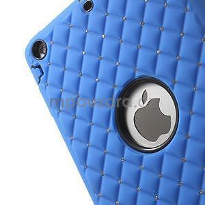 Hybridní kamínkové puzdro pre iPad mini- modré - 6