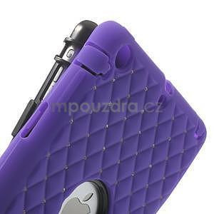 Hybridní kamínkové puzdro pre iPad mini- fialové - 6