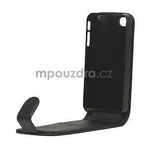 Flipové puzdro pre iPhone 4, 4s- čierné - 6