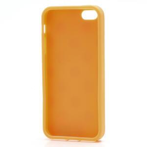 Gélové PUNTÍK puzdro pre iPhone 5, 5s- oranžové - 6