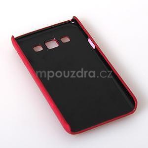 Kožený/plastový kryt so stojanom pre Samsung Galaxy A3    - rose - 6