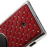 Drahokamové puzdro pre Nokia Lumia 1020- červené - 6/6